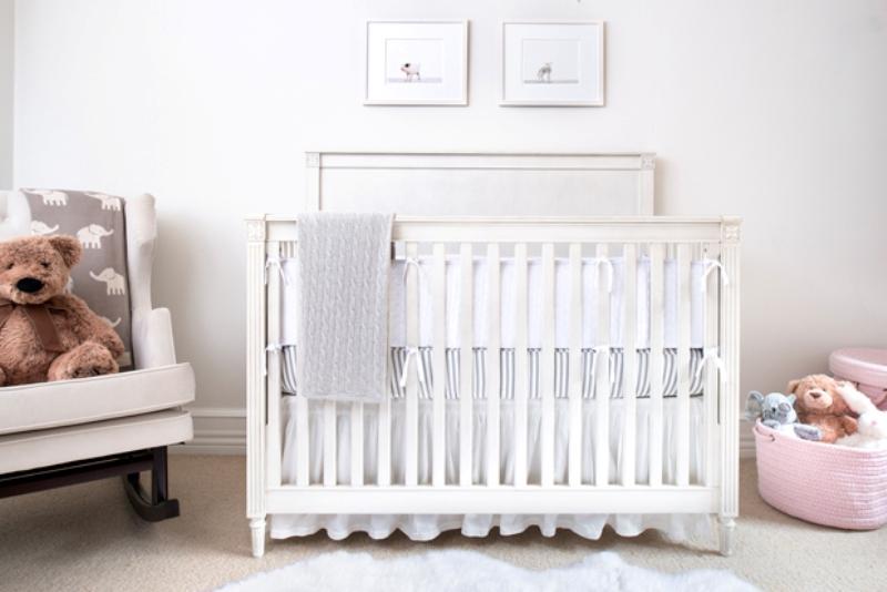 Cozy And Pretty All White Baby Nursery Design Kidsomania