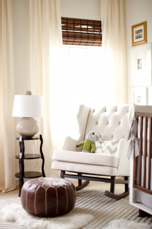 Cozy Cream And Chocolate Brown Nursery Design Inspiration