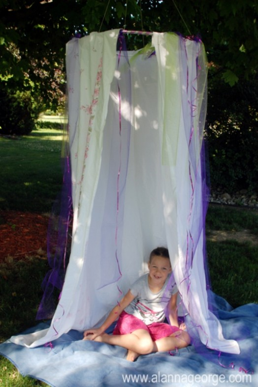 Cozy Diy Hula Hoop Hideout For Kid S Outdoor Play And Naps