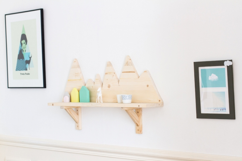 cute and easy diy mountain shelf for your kid s room kidsomania