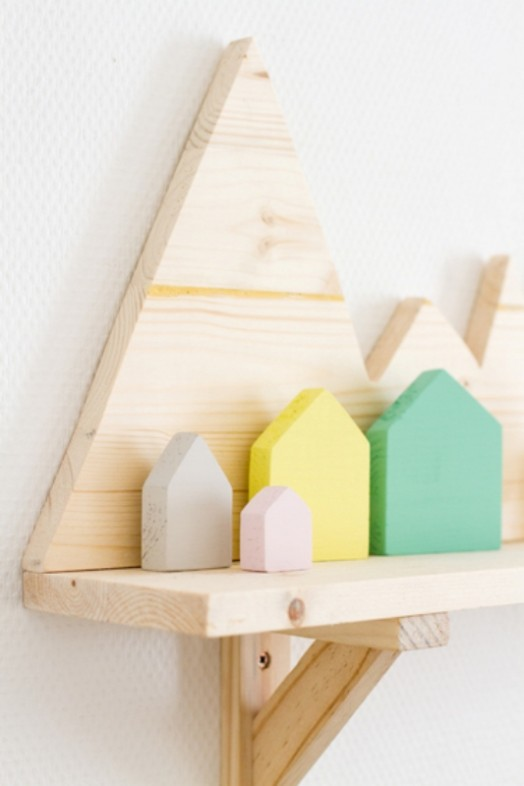 Cute And Easy Diy Mountain Shelf For Your Kid S Room
