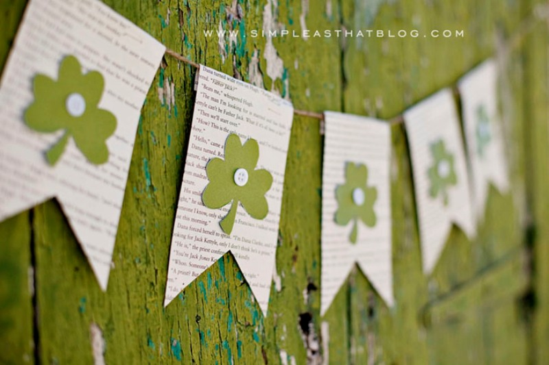 Cute And Easy Diy St Patrick S Day Bunting To Make With