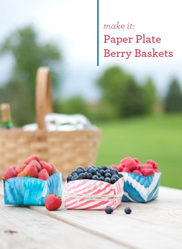 Cute DIY Paper Plate Berry Basket