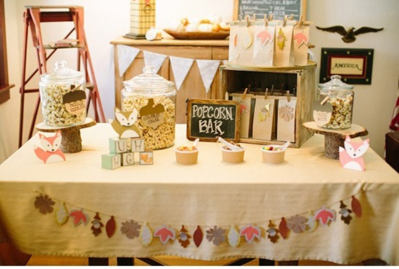 darling fox themed baby shower party to get inspired kidsomania