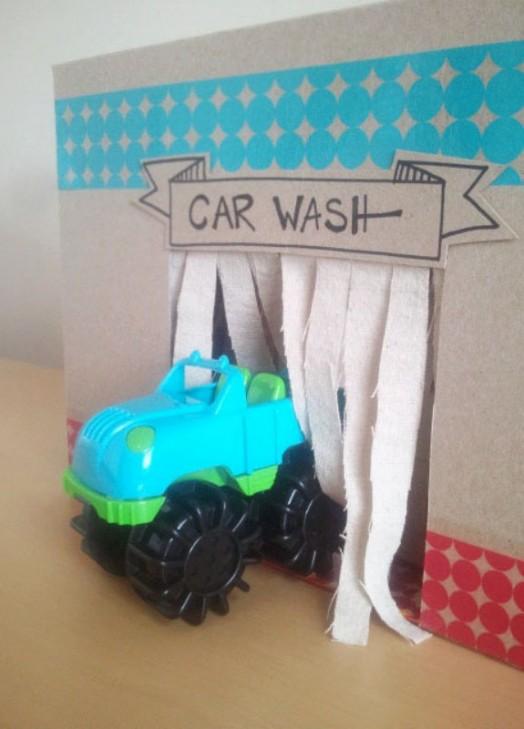 Homemade Car Wash >> Awesome DIY Kids Cardboard Car Wash | Kidsomania