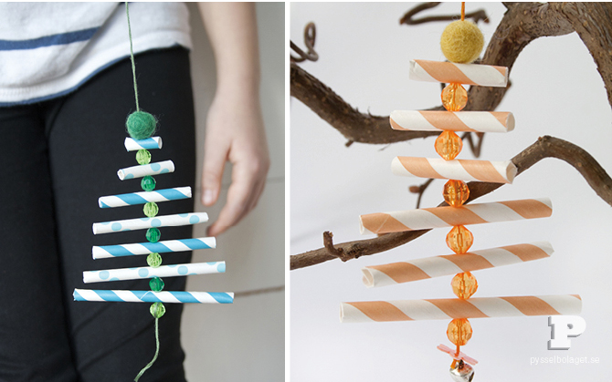 23 cool diy christmas tree decorations to make with kids for Cool paper ornaments
