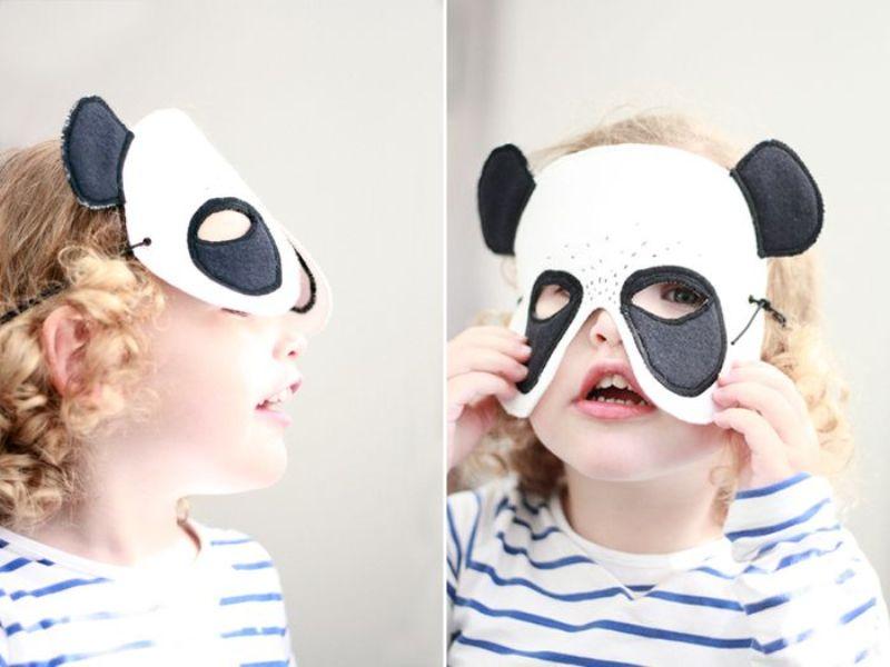 diy felt panda mask for your kid