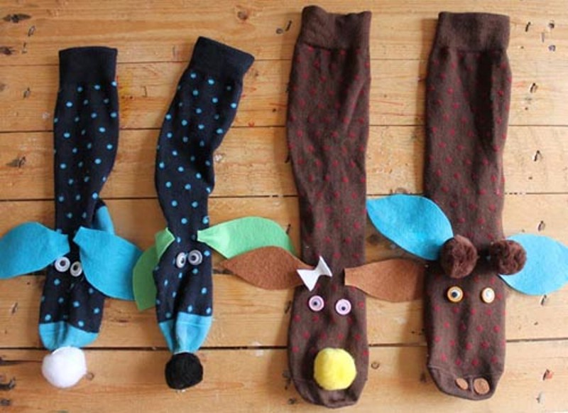 how to make handmade puppets diy sock puppets kidsomania 7087