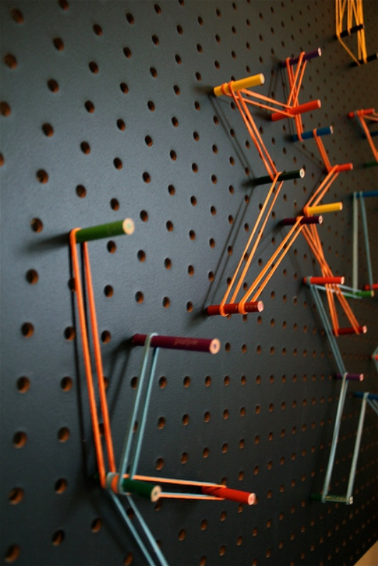Easy Diy Pegboard Your Kids Can Create Art On Kidsomania