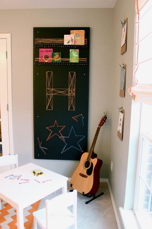 Black Pegboard Craft Room