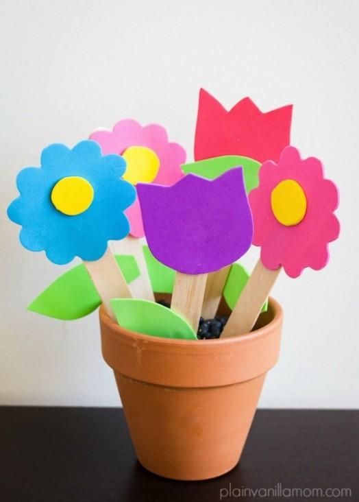 Easy Yet Cute Diy Foam Flower Garden For Mother S Day