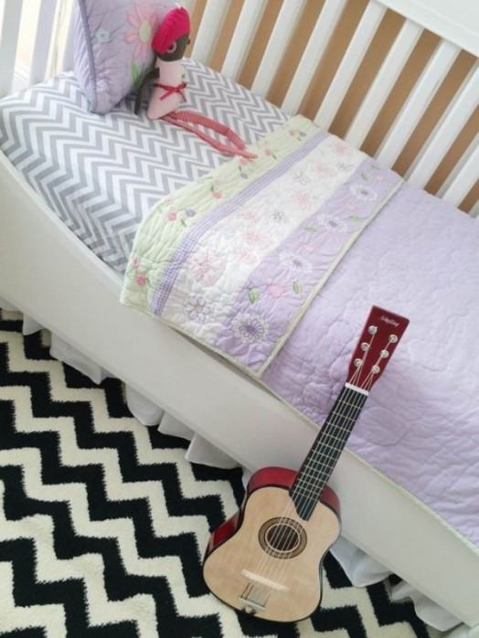 Eclectic And Fun Girl S Nursery Design With A Chalkboard