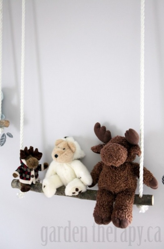 Eco Friendly Diy Branch Swing Shelves Kidsomania
