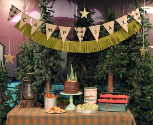 Exciting And Fun Camping Themed Kids Birthday Party