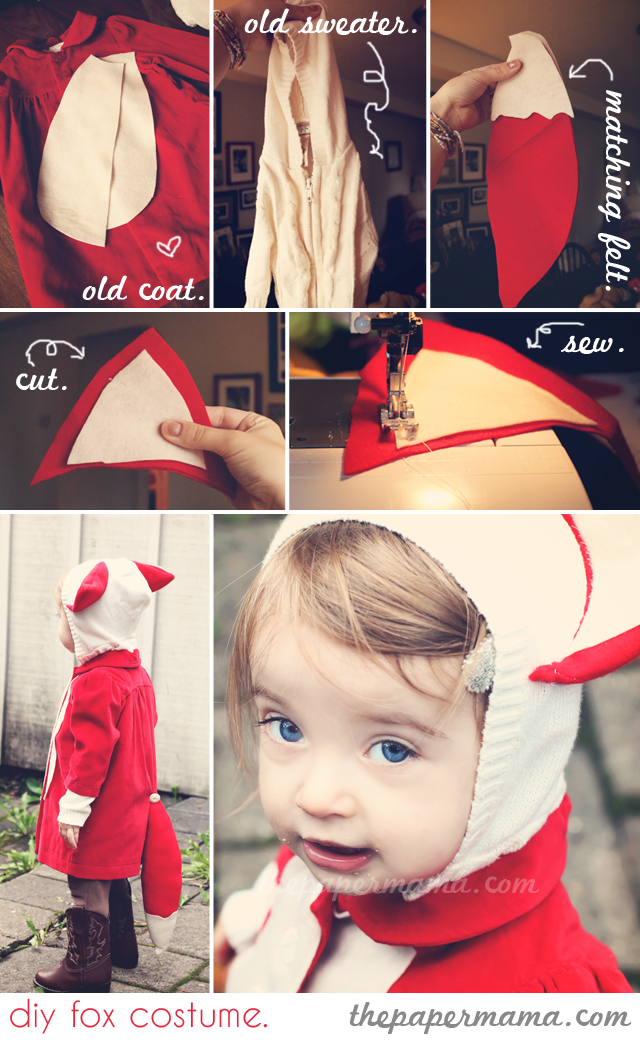 Diy fox halloween costume for kids kidsomania its like they are the fox paws thats it you see that transforming old clothes is a great way to create a cheapfuncutelast minute costume for your solutioingenieria Image collections