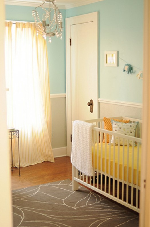 Yellow pink nursery : 14 ideas to decorate a nursery in fresh color combo: yellow and aqua