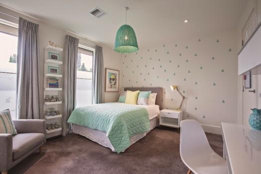 Fresh mint and grey modern big girl s bedroom kidsomania for Big teenage room ideas