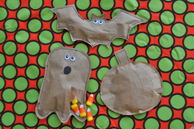 Scare up some silly fun this halloween with these easy to make treat bags!