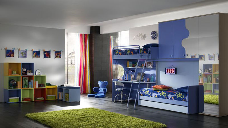 Ergonomic Kids Bedroom Designs For Two Children From