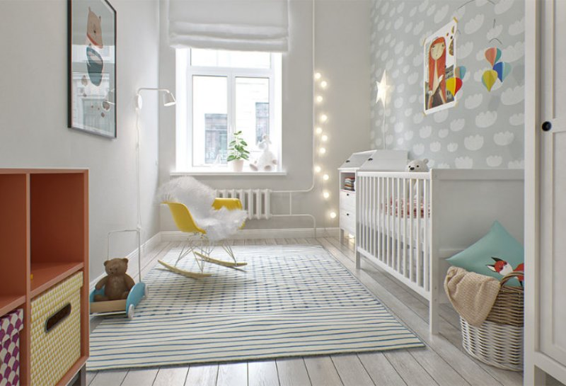 Lovely And Light Scandinavian Style Baby S Nursery Design: scandinavian baby nursery