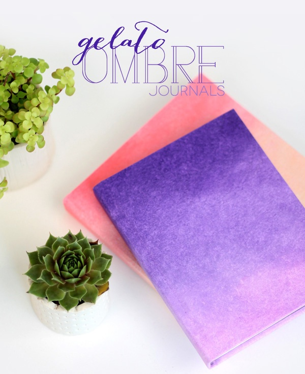 Book Cover Ideas Diy : Lovely and stylish diy ombre cover for a kid s notebook