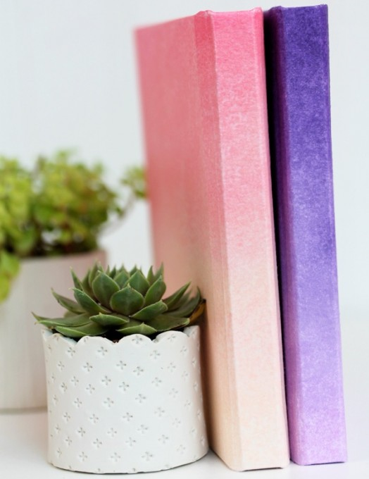Diy Ombre Book Cover ~ Lovely and stylish diy ombre cover for a kid s notebook