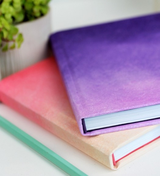 Lovely and stylish diy ombre cover for a kids notebook 4 524x574
