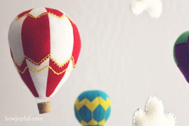 Ideal Lovely DIY Felt Hot Air Balloon Mobile