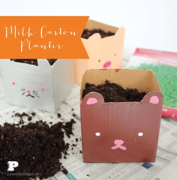 Lovely Diy Milk Carton Box Planters To Make With Kids