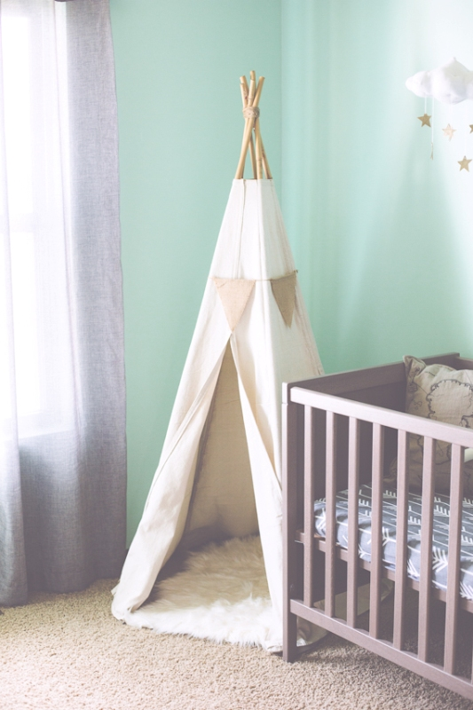Mint And Gold Cozy Baby Boy S Nursery Design Inspiration