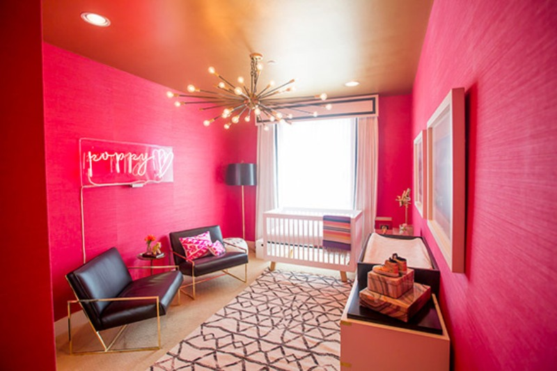 Hollywood Inspired Baby Girl Nursery In Hot Pink Kidsomania