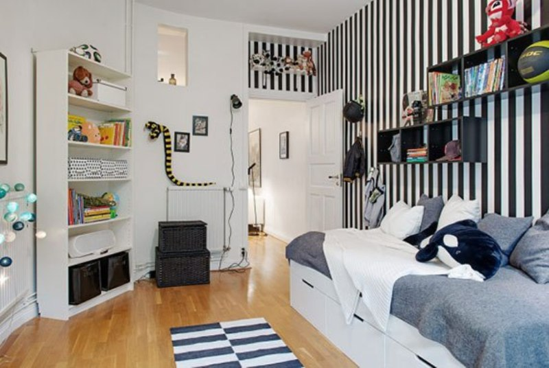 Modern scandinavian boy s bedroom design kidsomania for Scandinavian childrens bedroom