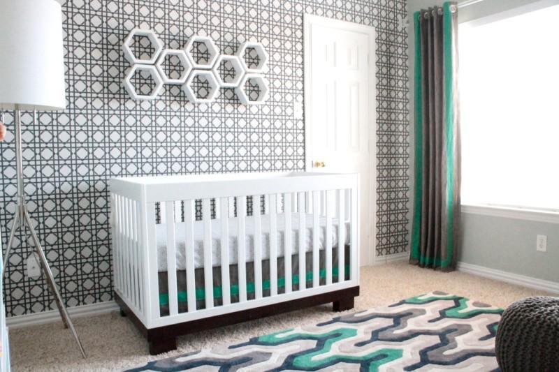 Modern sports nursery design for a baby boy kidsomania