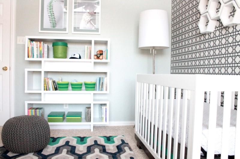 Modern sports nursery design for a baby boy kidsomania - Modern boy nursery themes ...