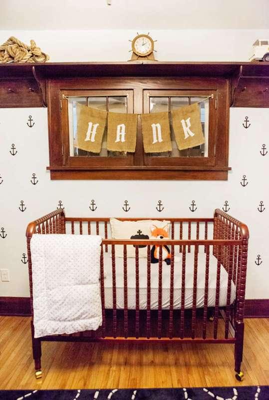 Nautical Baby Boy Nursery Room Ideas: Nice Vintage-Inspired Nautical Baby Boy's Nursery Design