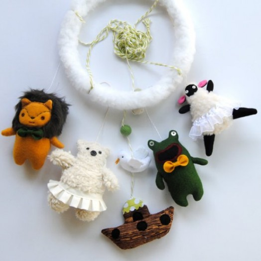 Non Traditional And Funny Handmade Crib Mobiles By