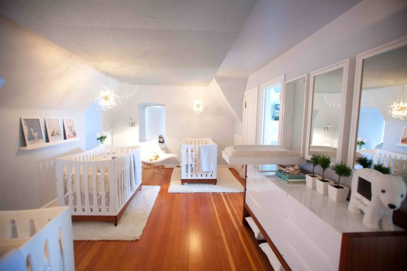 Beautiful And Calm Modern Triplets Nursery Design Kidsomania