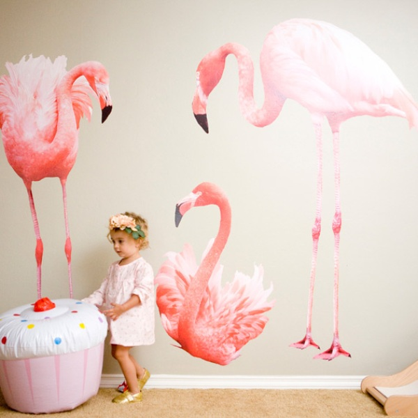 Children S Party Box Wall Art For Girl S Bedroom: Pink And Sparkly Flamingo Themed Baby Girl's Birthday