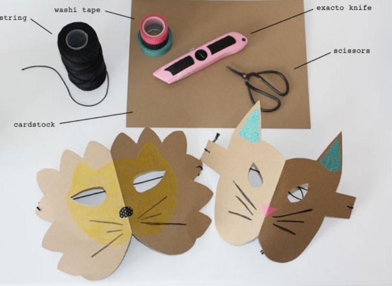 Simple And Cute DIY Cardstock Paper Animal Masks
