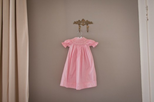 Sophisticated Pink And Grey Vintage Baby Girl Nursery