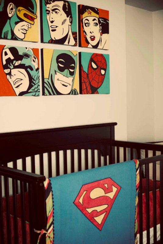 Stunning Superhero-Comic Book Nursery Ideas For Your Boy ...