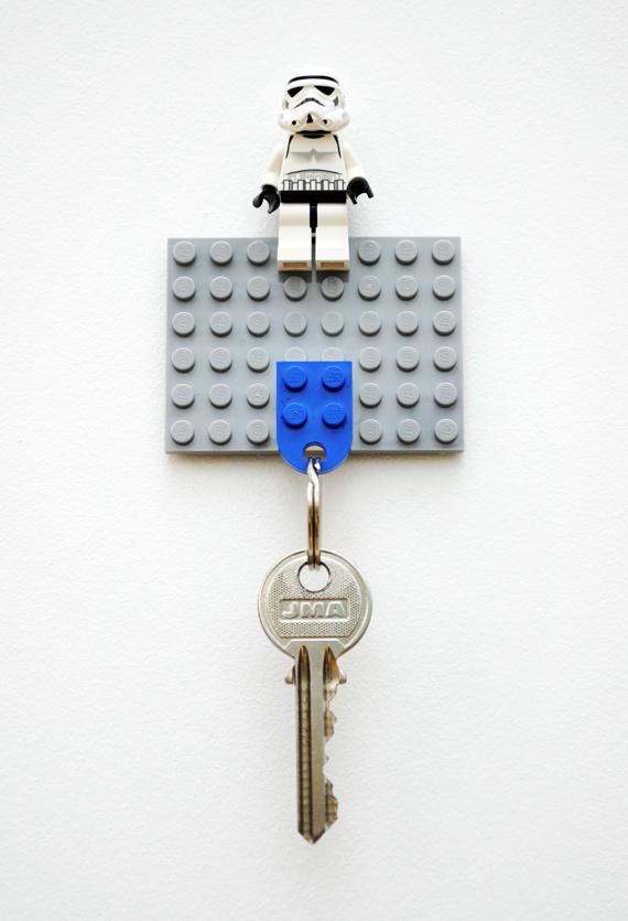 Super Easy To Make Diy Lego Key Holder Kidsomania