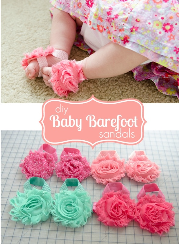 The Cutest Diy Barefoot Sandals For Babies Kidsomania