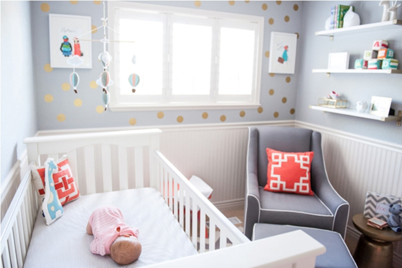 Marion S Coral And Gold Polka Dot Nursery: Sweet Polka Dot Nursery Design Inspiration