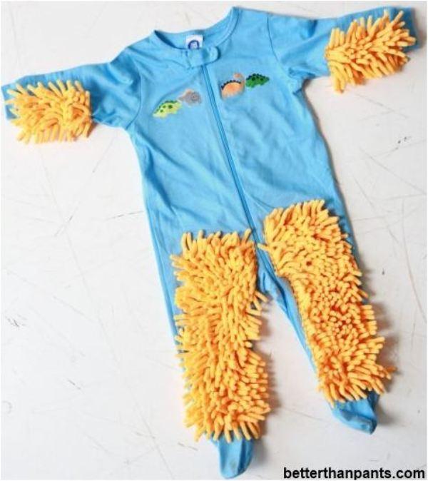 Unbelievable Baby Mop To Keep The Floors Clean Kidsomania