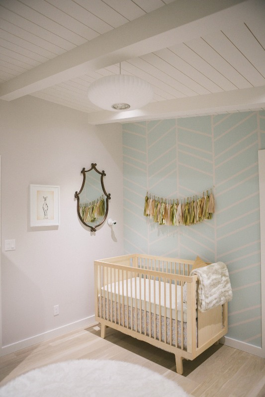 Very Lovely And Calm Modern Baby Girl Nursery Kidsomania