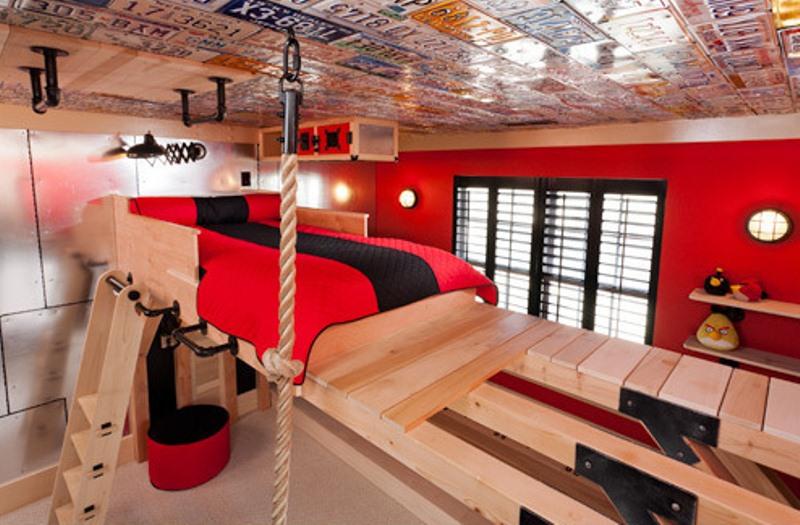 11 warm industrial kid s room design ideas kidsomania. Black Bedroom Furniture Sets. Home Design Ideas