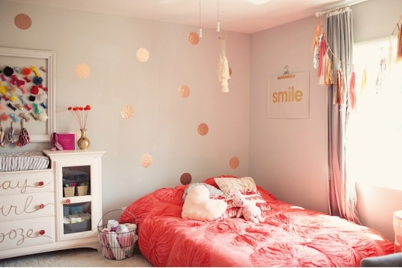 Whimsy Pink, Glittery Gold and Grey Teen Bedroom Design Inspiration ...