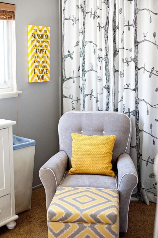Yellow And Grey Whimsy Bird Themed Boy S Nursery Kidsomania