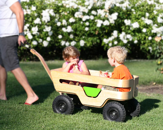 sustainable cart for two children zen wagon by kaiku kidsomania. Black Bedroom Furniture Sets. Home Design Ideas